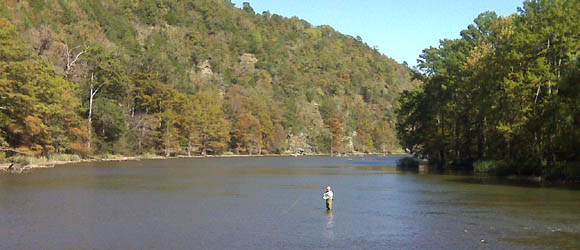 Fly fishing in the state park